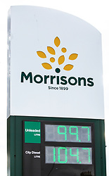 Morrisons Petrol Price 11 May 2020; Morrisons become the first UK retailer to cut the price of petrol below £1.<br /> <br /> (c) Chris McCluskie   Edinburgh Elite media