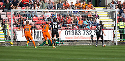 Dundee United's keeper Cammy Bell says he knew where former team-mate Nicky Clark was likely to aim after saving Dunfermline's second penalty. Dunfermline 1 v 3 Dundee United, Scottish Championship game played 10/9/2016 at East End Park.