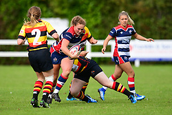 Ellie Mulhearn of Bristol Ladies is tackled by Alexandra Zdunek of Richmond ladies - Mandatory by-line: Craig Thomas/JMP - 17/09/2017 - Rugby - Cleve Rugby Ground  - Bristol, England - Bristol Ladies  v Richmond Ladies - Women's Premier 15s