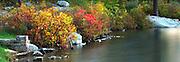 Crater Lake, Delaware Water Gap. Nikon D70, Lens: VR 70-200mm F/2.8 G 2005/10/19 17:22PM. Photomerge frames 267-268.