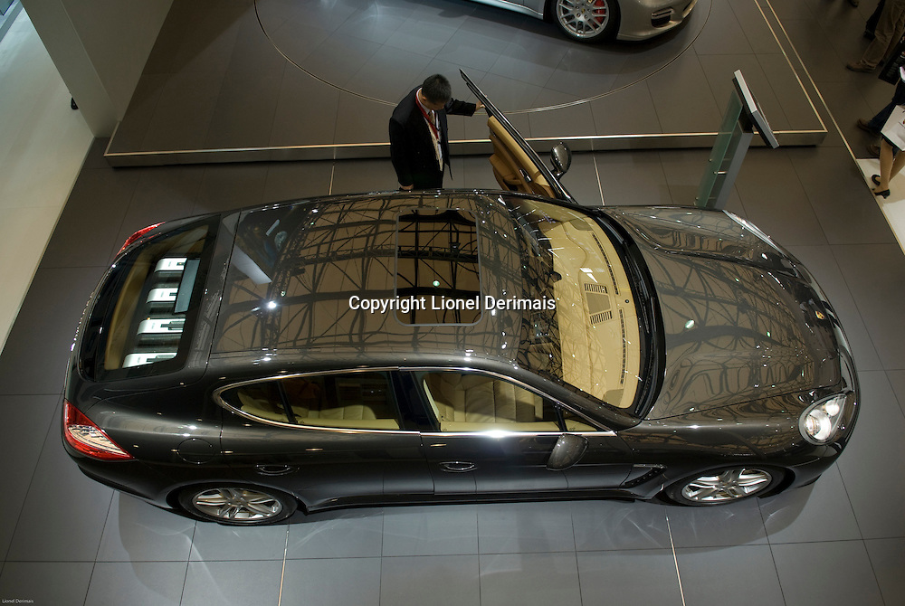 Introduction of the new Porsche Panamera at the Shanghai autoshow 2009.