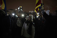 Protesters gathered in Bucharest Victory Square are now demanding resignation of PM Sorin Grindeanu.