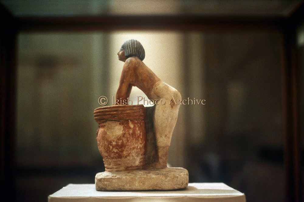 Brewing beer: Egyptian tomb model, 9th Dynasty c2160 BC from Meketra
