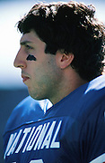 New York Giants tight end Mark Bavaro (89) looks on from the sideline during the NFL Pro Bowl football game between the NFC National Football Conference and the AFC American Football Conference on Sunday, Feb. 1, 1987 in Honolulu. The AFC won the game 10-6. (©Paul Anthony Spinelli)