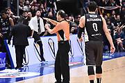 Campionato italiano Legabasket 2017/18<br /> 16° Giornata Ritorno  <br /> Bologna 21/01/2018 <br /> Segafredo Virtus Bologna - Dolomiti Energia Trentino 82-75 <br /> nella foto arbitro time out<br /> Foto GiulioCiamillo/ Ciamillo-Castoria