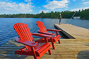 Fishing and Muskoka chairs - Star Lake<br />