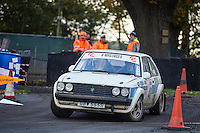 #48 Stuart Gilks / Mike Boyns Talbot Sunbeam Rugby / HRCR Lotusbitsduring Neil Howard Memorial Stage Rally, and opening round of the 2015 Motorsport News Rally Championship.  at Oulton Park, Little Budworth, Cheshire, United Kingdom. November 07 2015. World Copyright Peter Taylor. Copy of publication required for printed pictures.  Every used picture is fee-liable. http://archive.petertaylor-photographic.co.uk