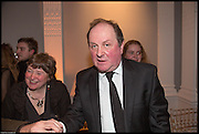 ELEANOR UPDALE; JAMES NAUGHTIE;  James Naughtie: The Madness of July published by Head of Zeus - book launch party, ICA, London. 25 February 2014.