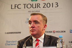 MELBOURNE, AUSTRALIA - Monday, July 22, 2013: Liverpool's Managing Director Ian Ayre during a press conference at the Grant Hyatt Hotel ahead of their preseason friendly against Melbourne Victory. (Pic by David Rawcliffe/Propaganda)