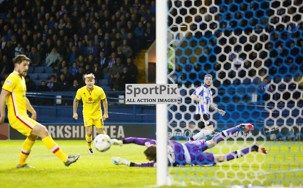 Daniel Pudil brings a save out of Charlie Burns during Sheffield Wednesday v Milton Keynes Dons, SkyBet Championship, Tuesday 19th April 2016, Hilsborough, Sheffield
