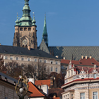 Photo of the Prague Castle, taken from the Lesser Town Square.