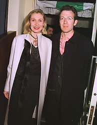 MR & MRS ASHLEY HICKS, he is the grandson of the late Earl Mountbatten, at a party in London on 18th February 1999.MOM 32
