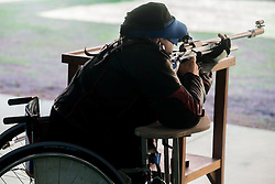Josef Neumaier of Germany during Qualification of R7 - Men's 50m Rifle 3 Positions SH1 on day 5 during the Rio 2016 Summer Paralympics Games on September 12, 2016 in Olympic Shooting Centre, Rio de Janeiro, Brazil. Photo by Vid Ponikvar / Sportida