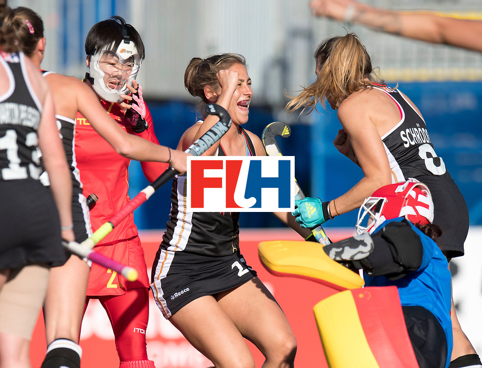 AUCKLAND - Sentinel Hockey World League final women<br /> Match id 10297<br /> 07 Germany v China<br /> Foto: Marie Mavers scores and is happy.<br /> WORLDSPORTPICS COPYRIGHT FRANK UIJLENBROEK