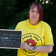 Alana McCullough. 13 anti-fracking activists, climate protectors, the day before doing a joint lock-on outside Quadrilla's drill site in New Preston Road, Lancashire. The campaign against the drilling for shale gas has been going for years and since January 2017 many have taken to block the gates to deny Quadrilla being able to drill. Fracking was rejected by Lancashire County council in 2015 but were overruled by central Conservative government and locals are fighting to stop the drilling and reverse the decision.