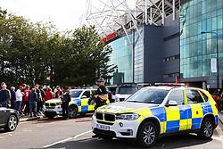 A heavy police presence outside Old Trafford - Mandatory by-line: Matt McNulty/JMP - 17/09/2017 - FOOTBALL - Old Trafford - Manchester, England - Manchester United v Everton - Premier League