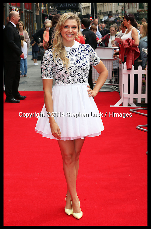 Image licensed to i-Images Picture Agency. 13/07/2014. London, United Kingdom. Anna Williamson at the World premiere of Pudsey The Dog : The Movie in London.  Picture by Stephen Lock / i-Images