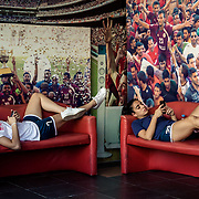 Football players of Football Club Beirut, relaxing before the last match of Lebanon senior league
