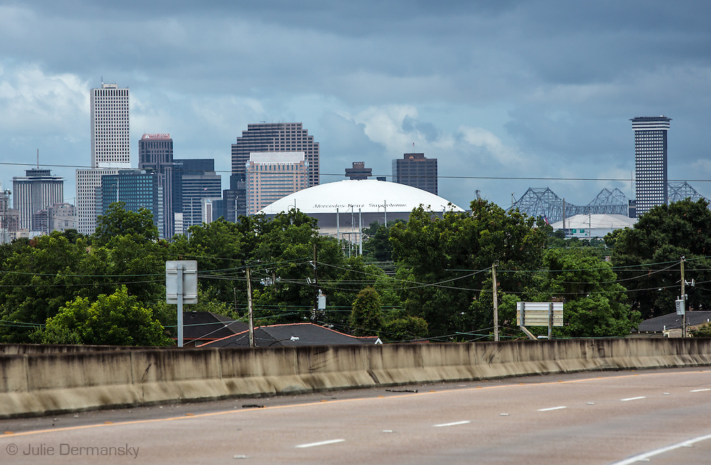 June 14, 2015, New Orleans skyline ten years after Katriana.