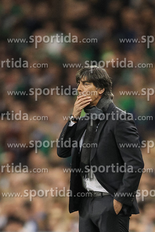 08.10.2015, Avia Stadium, Dublin, IRL, UEFA Euro Qualifikation, Irland vs Deutschland, Gruppe D, im Bild Bundestrainer Joachim ?Jogi? Loew // during the UEFA EURO 2016 qualifier group D match between Ireland and Germany at the Avia Stadium in Dublin, Ireland on 2015/10/08. EXPA Pictures &copy; 2015, PhotoCredit: EXPA/ Eibner-Pressefoto/ Risto Bozovic<br /> <br /> *****ATTENTION - OUT of GER*****