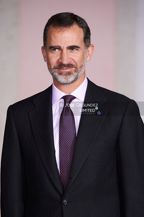 King Felipe VI of Spain attended a Gala dinner at Palacio de las Necesidades during Official Visit to Portugal, day 2 on November 29, in Lisbon, Portugal