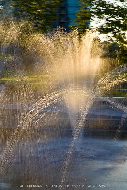 Public interactive fountain in Vancouver, Canada.