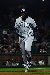SAN FRANCISCO, CA - APRIL 08: Franmil Reyes #32 of the San Diego Padres rounds the bases after hitting a two run home run against the San Francisco Giants during the seventh inning at Oracle Park on April 8, 2019 in San Francisco, California. The San Diego Padres defeated the San Francisco Giants 6-5. (Photo by Jason O. Watson/Getty Images) *** Local Caption *** Franmil Reyes