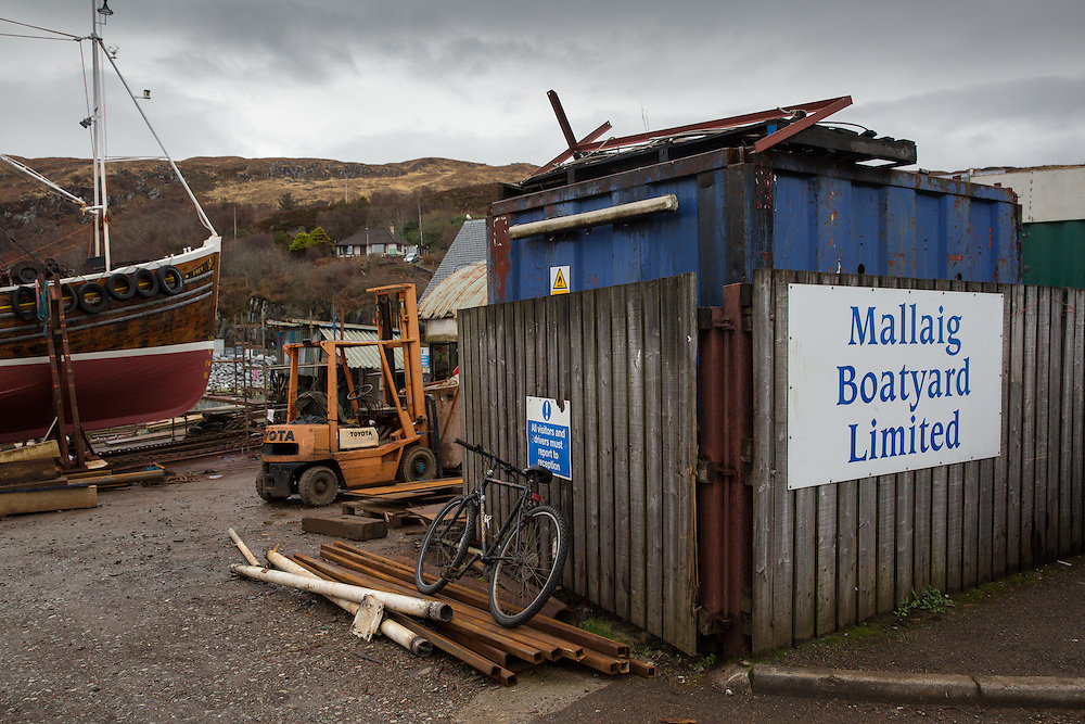 Mallaig Boatyard. Picture Robert Perry 9th April 2016<br /> <br /> Must credit photo to Robert Perry<br /> FEE PAYABLE FOR REPRO USE<br /> FEE PAYABLE FOR ALL INTERNET USE<br /> www.robertperry.co.uk<br /> NB -This image is not to be distributed without the prior consent of the copyright holder.<br /> in using this image you agree to abide by terms and conditions as stated in this caption.<br /> All monies payable to Robert Perry<br /> <br /> (PLEASE DO NOT REMOVE THIS CAPTION)<br /> This image is intended for Editorial use (e.g. news). Any commercial or promotional use requires additional clearance. <br /> Copyright 2014 All rights protected.<br /> first use only<br /> contact details<br /> Robert Perry     <br /> 07702 631 477<br /> robertperryphotos@gmail.com<br /> no internet usage without prior consent.         <br /> Robert Perry reserves the right to pursue unauthorised use of this image . If you violate my intellectual property you may be liable for  damages, loss of income, and profits you derive from the use of this image.