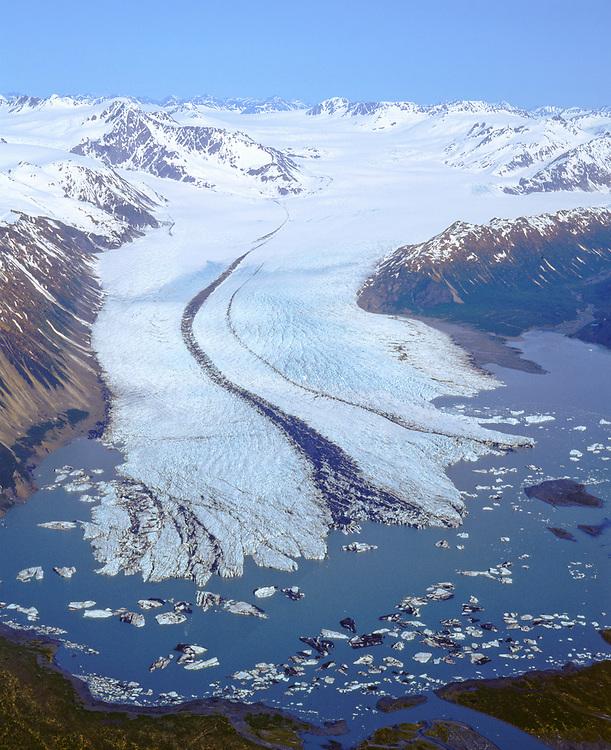 Bear Glacier in Kenai Fjords National Park, Kenai Peninsula. Chugach National Forest.