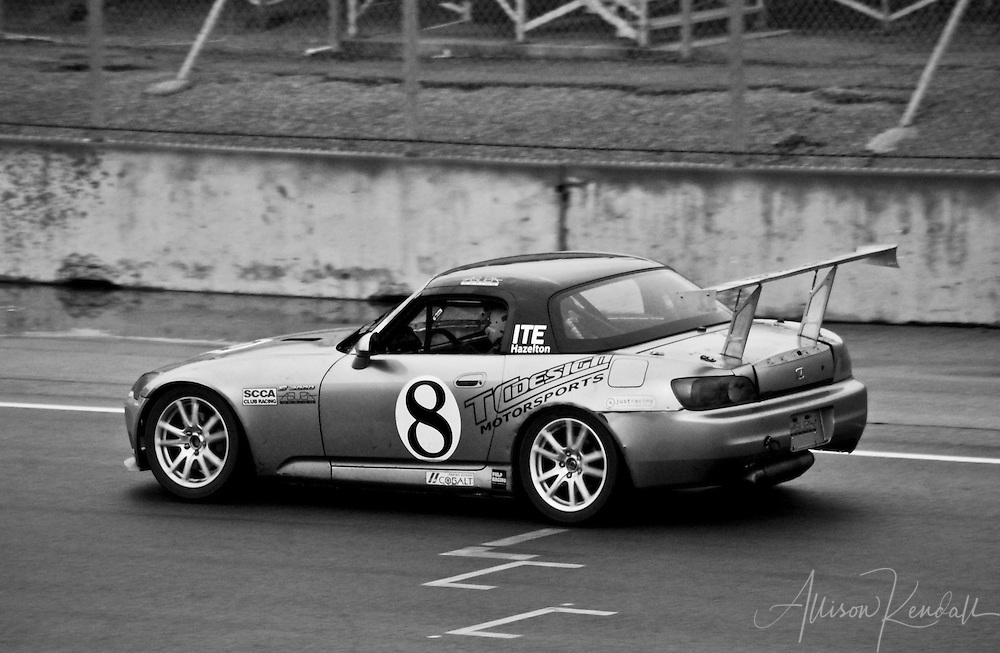 A Miata races during SCCA events at Laguna Seca