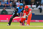 Jos Buttler of Lancashire plays a reverse sweep during the Vitality T20 Finals Day Semi Final 2018 match between Worcestershire Rapids and Lancashire Lightning at Edgbaston, Birmingham, United Kingdom on 15 September 2018.