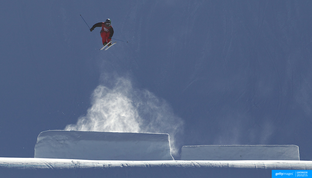Klaus Finne, Norway, in action in the Slopestyle Finals during The North Face Freeski Open at Snow Park, Wanaka, New Zealand, 2nd September 2011. Photo Tim Clayton...
