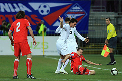 Andraz Kirm vs Libor Sionko at the 8th day qualification game of 2010 FIFA WORLD CUP SOUTH AFRICA in Group 3 between Slovenia and Czech Republic at Stadion Ljudski vrt, on March 28, 2008, in Maribor, Slovenia. Slovenia vs Czech Republic 0 : 0. (Photo by Vid Ponikvar / Sportida)