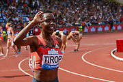 Agnes Jebet TIROP of Kenya winner of the Women's 3000m during the Muller Grand Prix 2018 at Alexander Stadium, Birmingham, United Kingdom on 18 August 2018. Picture by Toyin Oshodi.
