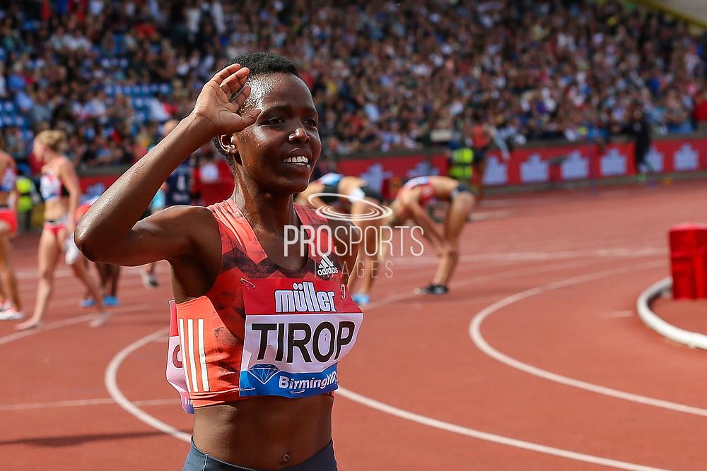 Agnes Jebet TIROP of Kenya winner of the Women's 3000m during the Muller Grand Prix 2018 at Alexander Stadium, Birmingham, United Kingdom on 18 August 2018. Picture by Toyin Oshodi.