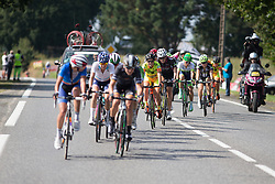 Eugenia Bujak (POL) of BTC City Ljubljsana Cycling Team rides in the middle of the leading group in the penultimate lap of the 121.5 km road race of the UCI Women's World Tour's 2016 Grand Prix Plouay women's road cycling race on August 27, 2016 in Plouay, France. (Photo by Balint Hamvas/Velofocus)