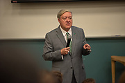 Ohio University President M. Duane Nellis speaks to participants of the High School Journalism Workshop. The College of Communications has hosted the workshop every summer since 1946. Photo by Ben Siegel
