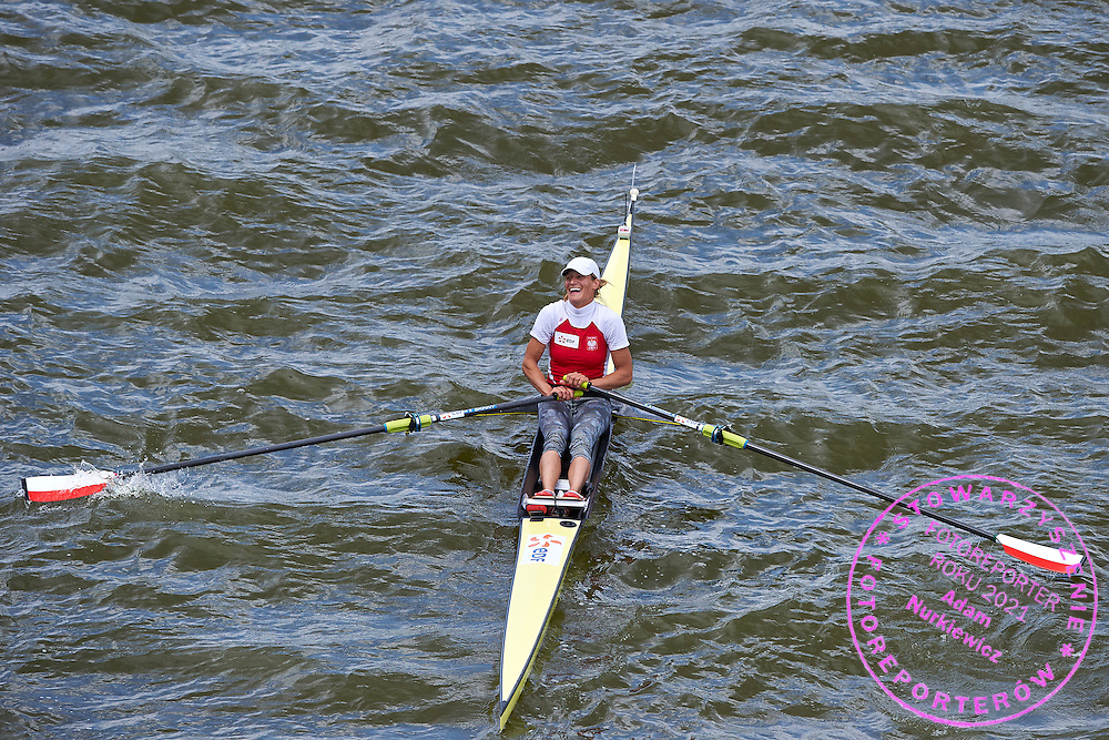 Julia Michalska of Poland competes at Women&rsquo;s Single Sculls (W1x) Semifinal during second day the 2015 European Rowing Championships on Malta Lake on May 30, 2015 in Poznan, Poland<br /> Poland, Poznan, May 30, 2015<br /> <br /> Picture also available in RAW (NEF) or TIFF format on special request.<br /> <br /> For editorial use only. Any commercial or promotional use requires permission.<br /> <br /> Mandatory credit:<br /> Photo by &copy; Adam Nurkiewicz / Mediasport