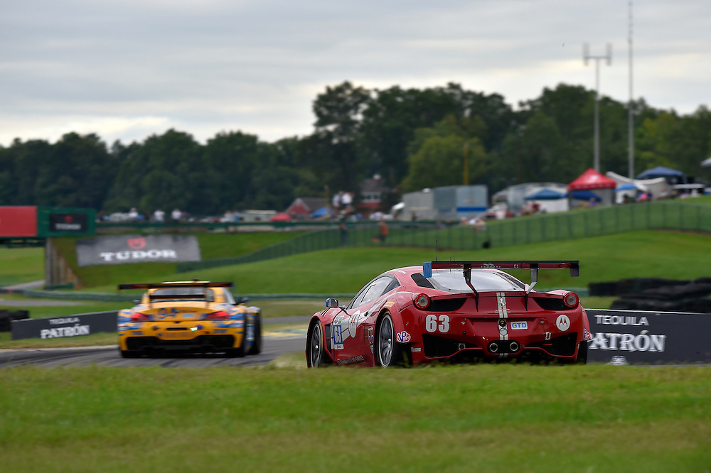 22-24 August 2014, Alton, Virginia USA<br /> 63, Ferrari, 458 Italia, GTD, Alessandro Balzan, Jeff Westphal, 94, BMW, Z4, GTD, Dane Cameron, Markus Palttala<br /> &copy;2014, Scott R LePage <br /> LAT Photo USA