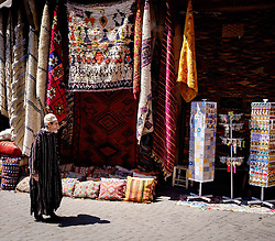 Berber carpets for sale  in the medina, Marrakech, Morocco, North Africa<br /> <br /> (c) Andrew Wilson | Edinburgh Elite media