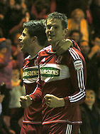 Picture by Paul Gaythorpe/Focus Images Ltd +447771 871632.26/12/2012.Lucas Jutkiewicz of Middlesbrough celebrates scoring the first goal against Blackburn Rovers during the npower Championship match at the Riverside Stadium, Middlesbrough.
