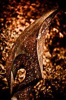 Zimsculpt at Van Dusen Botanical Garden: Bird Spirit - cobalt stone sculpture by Tendai Gwaravaza (original sculpture available at www.zimsculpt.com)