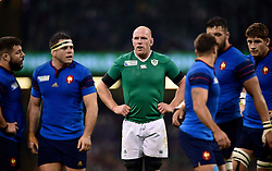 Paul O'Connell of Ireland looks on - Mandatory byline: Patrick Khachfe/JMP - 07966 386802 - 11/10/2015 - RUGBY UNION - Millennium Stadium - Cardiff, Wales - France v Ireland - Rugby World Cup 2015 Pool D.
