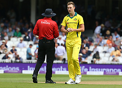 June 13, 2018 - London, England, United Kingdom - Billy Stanlake of Australia.during One Day International Series match between England and Australia at Kia Oval Ground, London, England on 13 June 2018. (Credit Image: © Kieran Galvin/NurPhoto via ZUMA Press)