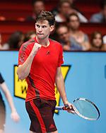 DOMINIC THIEM (AUT) macht die Faust und jubelt,Jubel,Emotion<br /> <br /> Tennis - ERSTE BANK OPEN 2017 - ATP 500 -  Stadthalle - Wien -  - Oesterreich  - 26 October 2017. <br /> © Juergen Hasenkopf