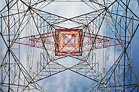 Electricity pylon view from below