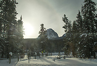 Banff ski trip. Bus ride back to town at dusk.   ©2019 Karen Bobotas Photographer