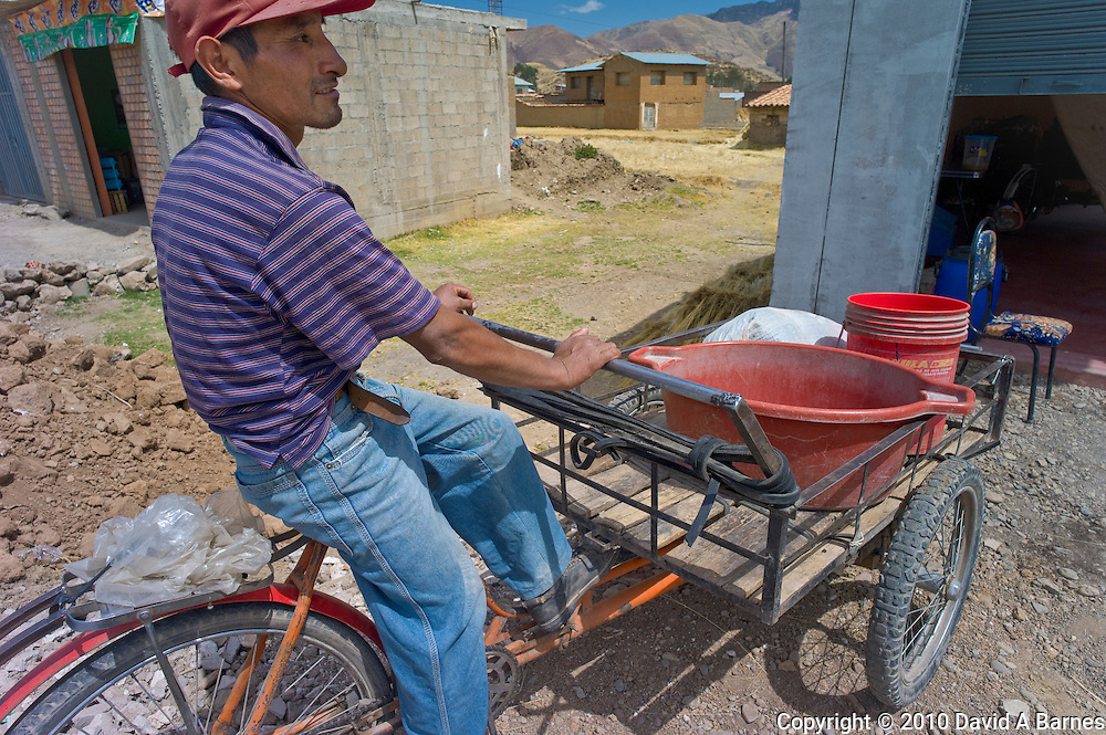 Man with work tricycle, Sicuani, Cusco, Peru