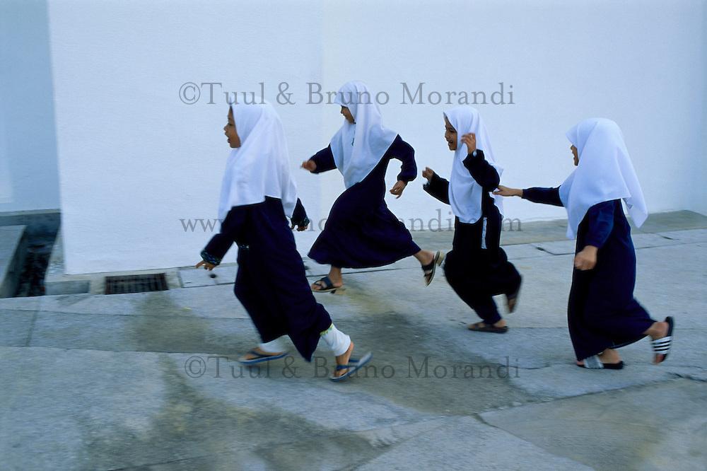 Malaisie, Kuantan, écolieres // Malaysia, Kuantan, School girls