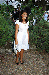 Fashion designer DANIELLA HELAYEL at a party to celebrate Stephen Jones's 25 Years of Millinery held at Debenham House, 8 Addison Road, London W14 on 13th July 2006.<br />